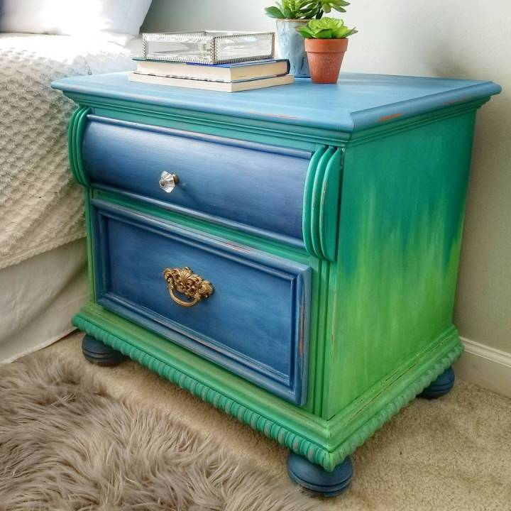Peacock-Inspired Night Stand