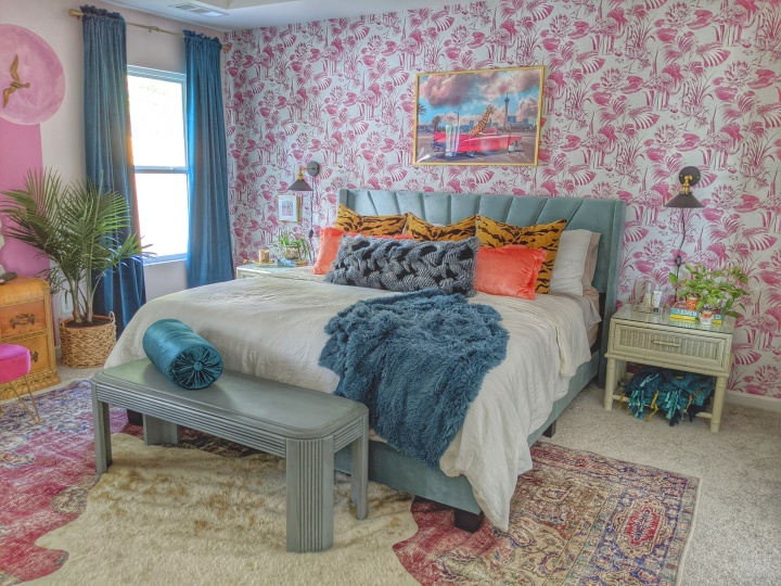 Retro Bohemian Bedroom Makeover